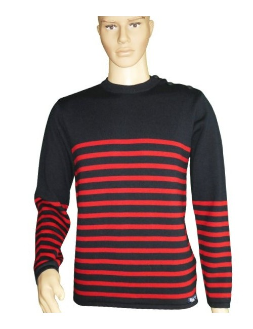 Pull Grand mât marine/rouge mannequin homme
