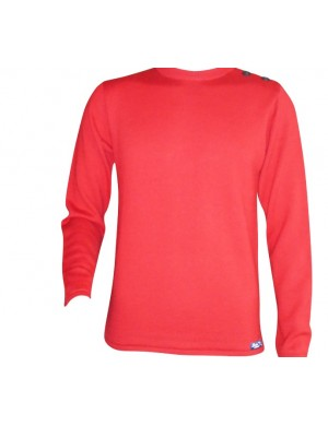 Pull Grand mât rouge 100% laine mérinos