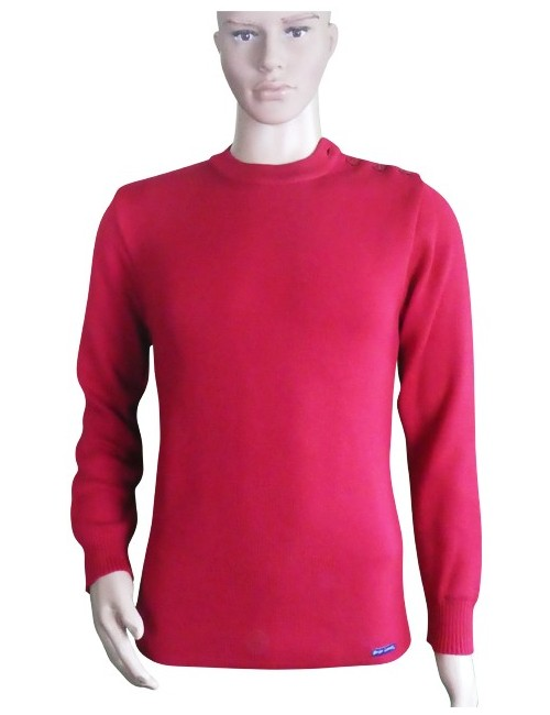 Pull marin Marinier rouge pure laine