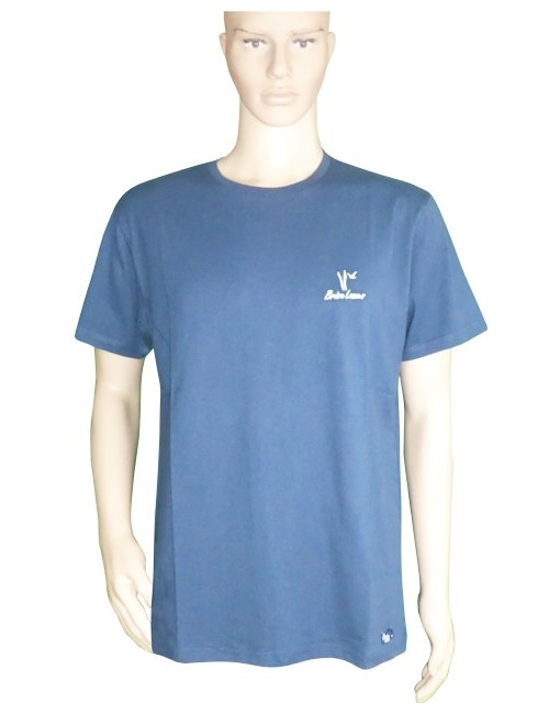 T-shirt barque marine brodée mixte
