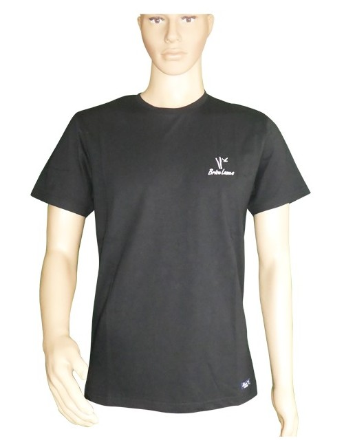 T-shirt barque noir brodée mixte