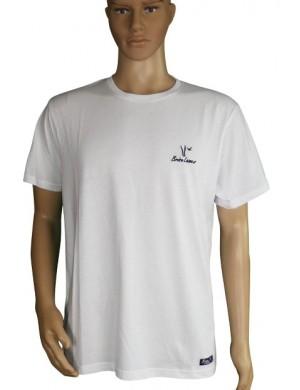 T-shirt barque blanc brodée mixte