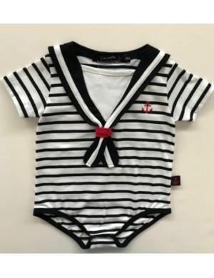 Body marin rayé pour bébé