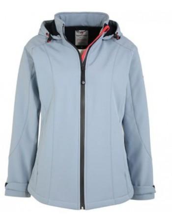 veste soft shell femme Bermudes Sitia bleu/orage