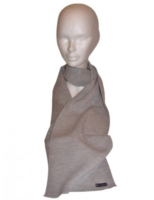 Echarpe Brise-lames laine grise moyenne