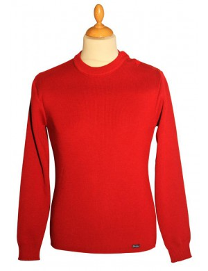 Pull marin Brise lames solidor rouge rubis