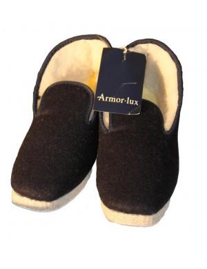 Chaussons en laine Armor-lux bleu marine