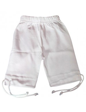 Pantalon corsaire enfant et bébé blanc
