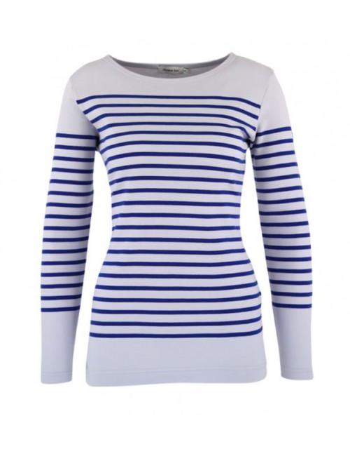 Marinière Armor-lux Amiral femme blanc/bleu étoile
