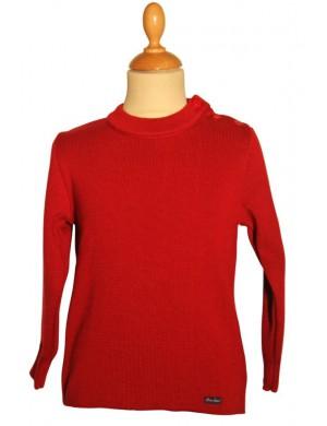 Pull marin enfant Brise-lames Merlin rouge rubis