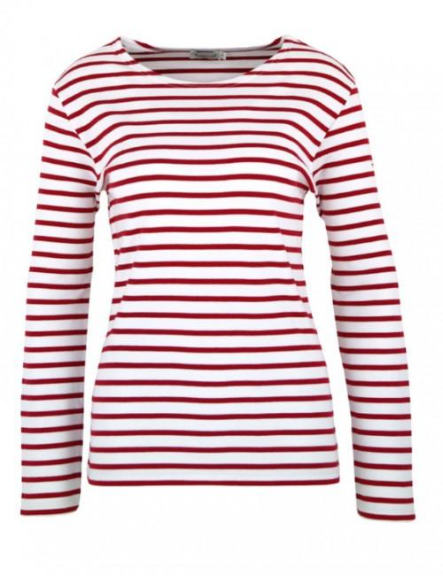 Marinière Armor-lux Lesconil blanc/rouge
